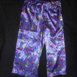 Justice Purple Crop Ice Cream Sleep Pants
